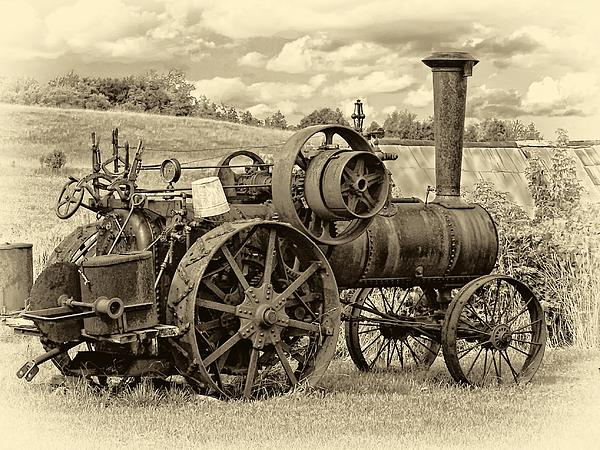 steam-powered-tractor-sepia-steve-harrington